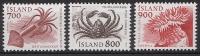 ISLANDE 1985 - Faune Marine - 3v Neuf ** (MNH) - Islande