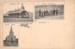 57 - Chambrey - Frontière, Gare, Eglise (multivue Type Gruss) - Altri Comuni
