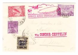 Brasilien Pernambuco Brief 1932 Mit Condor-Zeppelin Nach Bern Transitstempel 29.3.1932 Friedrichshafen - Lettres & Documents