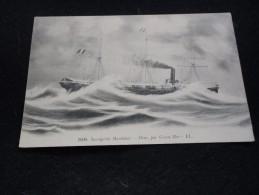 Bâteaux . L´ Oxus Des Messageries Maritimes , Par Grosse Mer . - Schiffe