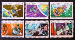 JOURNEE DE L´ASTONAUTIQUE 1984 - OBLITERES - YT 2538/43 - MI 2844/49 - Cuba