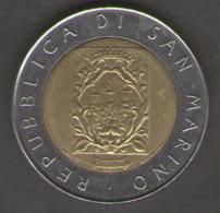 SAN MARINO 500 LIRE 1988 BIMETALLICA - San Marino