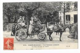 PARIS  (cpa 75)  Les Femmes Cochers - Au Bois Un Jour De Bombe -  ## TRES  RARE ## - Petits Métiers à Paris