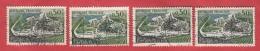 Y&T N°1314 : Rupture Du Pont En Quatre Exemplaires - Curiosities: 1960-69 Used