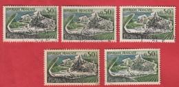 Y&T 1314 : Variété Crescendo : Cinq Fois Péniches Et Paquebots Brisés, Noyés, Manquants - Curiosities: 1960-69 Used