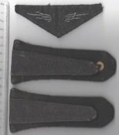 PAIRE D´ EPAULETTES BOUTON ANCRE DE MARINE ET ECUSSON Tissu AVIATION - Uniformen