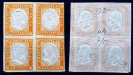 Antichi Stati Regno Di SARDEGNA 1855 1863 Effige Di VE II Quartina C. 80 MLH * Enzo Diena - Sardegna