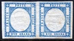 Regno Di VE II 1861 Emissione Per Le PROVINCE NAPOLETANE 2 Grana Coppia Senza Gomma Due - 1861-78 Vittorio Emanuele II