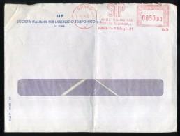 EMA - AFFRANCATURA MECCANICA ROSSA - SIP  Cuneo - 1972  Lire 50 - Affrancature Meccaniche Rosse (EMA)