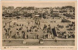CPA Le Touquet, Paris Plage, Vue Générale De L'esplanade Du Haut Du Plongeoir (pk30026) - Le Touquet