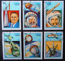 JOURNEE DE LA COSMONAUTIQUE 1986 - OBLITERES - YT 2683/88 - MI 3005/10 - Cuba