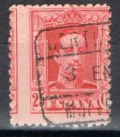 Sello 25 Cts Alfonso XIII Vaquer, Fechador Certificado MOLLERUSA (Lerida), VARIEDAD Edifil Num 317 º - 1889-1931 Reino: Alfonso XIII