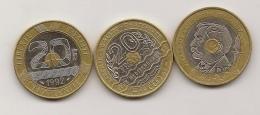1992 +1993 +1994 - L. 20 Francs
