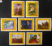 TABLEAUX 1988 - OBLITERES - YT 2816/22 - MI 3149/55 - Used Stamps