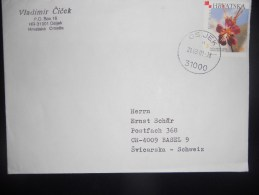 Croatie ,lettre De Osijek 2001 Pour Basel - Croazia
