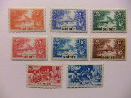GUINEA FRANCESA GUINEE FRANÇAISE 1938 Yvert Nº 125 -146 ** MNH Incompleta - Guinea Francesa (1892-1944)