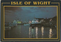 C3352 Isle Of Wight - Sealink Car Ferry Arriving At Yarmouth Harbour At Night - Barche Boats Bateaux / Viaggiata 1992 - Inghilterra