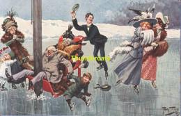 CPA ILLUSTRATEUR ARTHUR THIELE  PATTINAGE ICE SKATING TSN 1089 - Thiele, Arthur