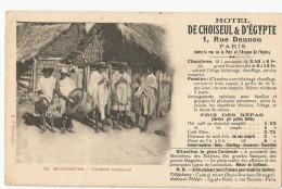 Madagascar - Flutistes Musique Indigènes Pub Publicité Hotel De Choiseul Et D'égypte - Madagascar