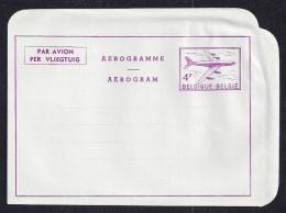 BELGIUM Aerogramme 4F Airplane Unused 1960s STK#X20565 - Aerogrammes