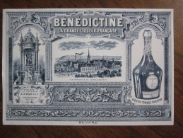 LE : BENEDICTINE , La Grande Liqueur Française -  FECAMP ( 76 ) ( 1 ) ,monument Du Fondateur A.LE GRAND Ainé - Buvards, Protège-cahiers Illustrés
