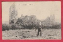 Fagnolle - Les Ruines ... Personnage Posant Pour La Photo - 1908 ( Voir Verso ) - Philippeville