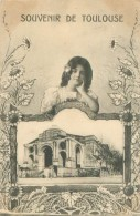 Souvenir De Toulouse   ,fleurs  ,jeune Fille     T115 - Toulouse