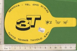 PO5306D# ADESIVO STICKER TUTTO TENNIS TAVOLO - GENOVA/PING PONG - Tischtennis