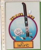 PO5310D# ADESIVO STICKER TENNIS SKI LAFONT - Abbigliamento, Souvenirs & Varie