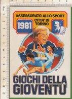 PO5326D# ADESIVO STICKER ASSESSORATO ALLO SPORT TORINO - GIOCHI DELLA GIOVENTU' 1981 - Atletica