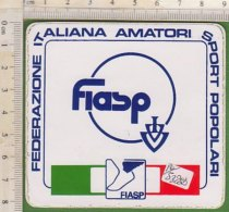 PO5328D# ADESIVO STICKER FEDERAZIONE ITALIANA AMATORI SPORT POPOLARI FIASP - Sport