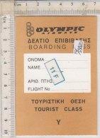 PO5341D# TARGHETTA BAGAGLIO OLYMPIC AIRWAYS - Etichette Da Viaggio E Targhette