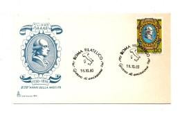 Fh47 - REPUBBLICA 1980 ,  SENZA  Timbro D'arrivo A.f. ROMA . MAZZEI - 6. 1946-.. Repubblica