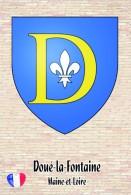 Carte Postale, Armoiries, Coat Of Arms, Heraldry Of The World, France (Maine-et-Loire), Doué-la-Fontaine - Other