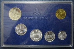 China 2000, Current Mint Set 6 Coins With Original Case Box - China