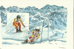 Carte Des Jeux Olympiques-( Descente Et Super-Geant Masculin A Val-d'Isère)-Discipline De Glisse Et De Glace - Jeux Olympiques