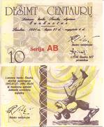 Lithuania PNL, 10 Centauru , 1991, Regional Olympics - Wrestler UNC - Lithuania