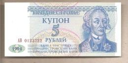 Transnistria - Banconota Non Circolata Da 5 Rubli P-17 - 1994 - Moldavia