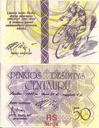 Lithuania PNL, 50 Centauru , 1991, Regional Olympics - Cyclists UNC - Lithuania