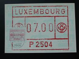 Carte Maximum Card Vignette De Distributeur ATM FRAMA Obl. Mersch Luxembourg 1984 - Cartes Maximum