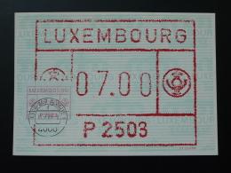 Carte Maximum Card Vignette De Distributeur ATM FRAMA Obl. Esch Sur Alzette Luxembourg 1984 - Cartes Maximum