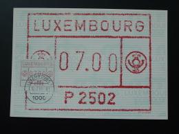 Carte Maximum Card Vignette De Distributeur ATM FRAMA Obl. Luxembourg 1984 - Cartes Maximum