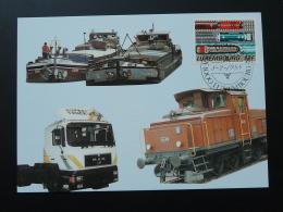 Carte Maximum Card Transport Bateau Train Camion Luxembourg 1988 - Camion