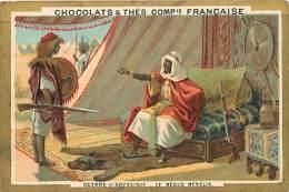 AM V 16 439  : CHOCOLATS ET THES COMPAGNIE FRANCAISE  GUERRE D ABYSSINIE NEGUS MENELIK - Thé & Café