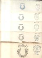 PAPEL SELLADO LOTE DE 5 DIFERENTES REPUBLICA ARGENTINA UNUSED  PAPEL NOTARIAL NOTARIOS ESCRIBANOS FEDATARIOS ORIGINAL - Documentos Históricos