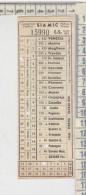 Biglietto Ticket Bus Siamic  Padova Treviso / Asolo Possagno 8/8/1958  Corsa Semplice - Bus