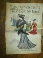 1901 La MODE Du Petit Journal    TOILETTE DE VILLE Gravures Couleurs Sur Double-page Et Une - Vieux Papiers