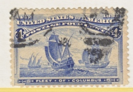 U.S. 233     Perf. Fault   (o)      COLUMBUS  SHIP - 1893 – Chicago (United States)