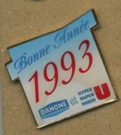 C# - PIN´S:  MARCHÉ U BONNE ANNÉE 1993 - Marques