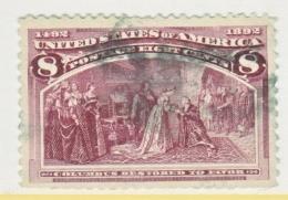 U.S. 236     Perf  Faults  (o)      COLUMBUS - 1893 – Chicago (Die Vereinigten Staaten)